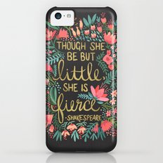 Little & Fierce On Charc… iPhone 5c Slim Case