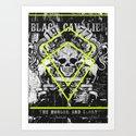 black cavalier Art Print