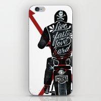 Live Fast, Love Hard iPhone & iPod Skin
