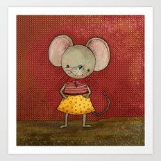 Danooshka the Mouse Art Print