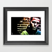 J Cole Framed Art Print