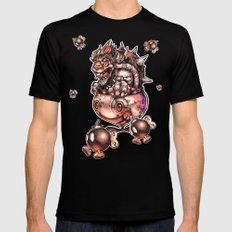 BOMBS AWAY BOWSER Mens Fitted Tee Black SMALL