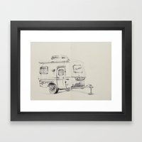 Scamper Framed Art Print