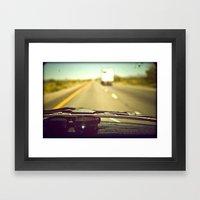 West Bound Framed Art Print