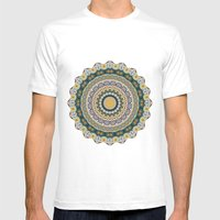Boho Patchwork-Mineral C… Mens Fitted Tee White SMALL