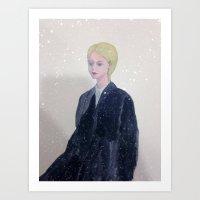 It's Snowing In My Mind. Art Print