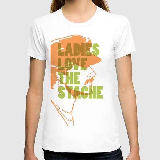 Ladies Love the Mustache T-shirt