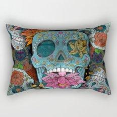 Sugar Skulls Art Rectangular Pillow