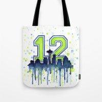 Seahawks 12th Man Fan Ar… Tote Bag