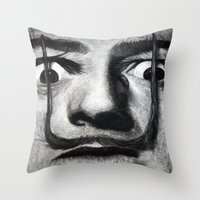 I am drugs ( Salvador Dali ) Throw Pillow