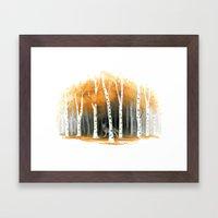 Autumn Wolf Framed Art Print
