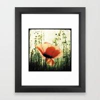 Eclosion De Coquelicot Framed Art Print