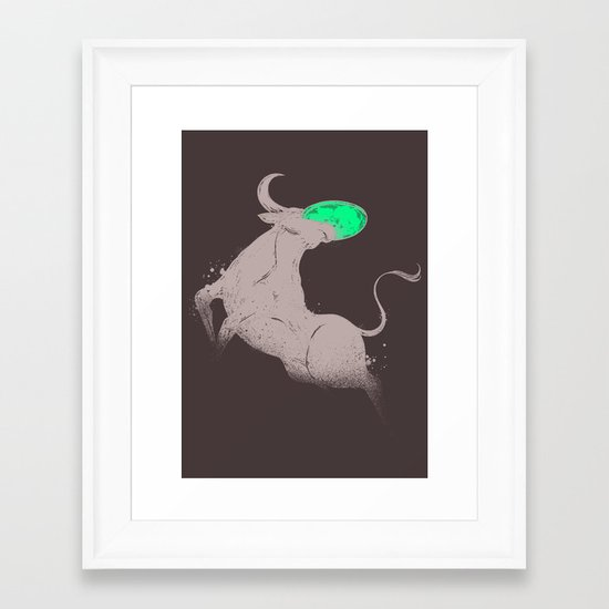 BULL?DOG? Framed Art Print