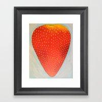 Strawberry  Framed Art Print