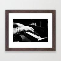 The Piano Man's Hands Framed Art Print