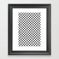 Black And White Polka Do… Framed Art Print