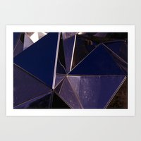 Abstract Glass Pattern Art Print