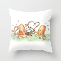 Octopus Valentine  Throw Pillow