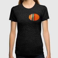 in woven color Womens Fitted Tee Tri-Black SMALL