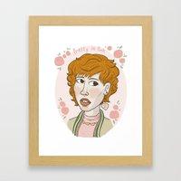 Pretty in Pink Portrait. Framed Art Print