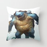 Pokemon-Blastoise Throw Pillow