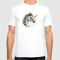 'Unicone' Mens Fitted Tee White SMALL