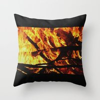 FIRE UP YOUR ENGINE Throw Pillow