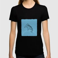 Hammer Shark Womens Fitted Tee Black SMALL