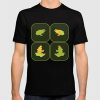Four Frogs Mens Fitted Tee Black SMALL