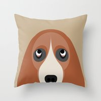 Basset Throw Pillow