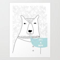 It's a Boy Art Print
