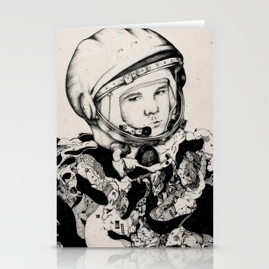 From Gagarin's Point Of View  Stationery Card