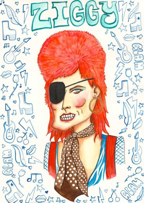 Ziggy Stardust. Canvas Print