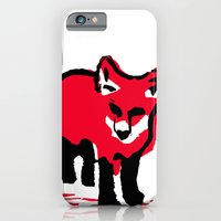 iPhone & iPod Case featuring Red Fox Stamp by Anica Costa