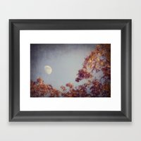 October Moon Framed Art Print