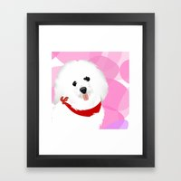 Coton De Tulear Dog Art Framed Art Print