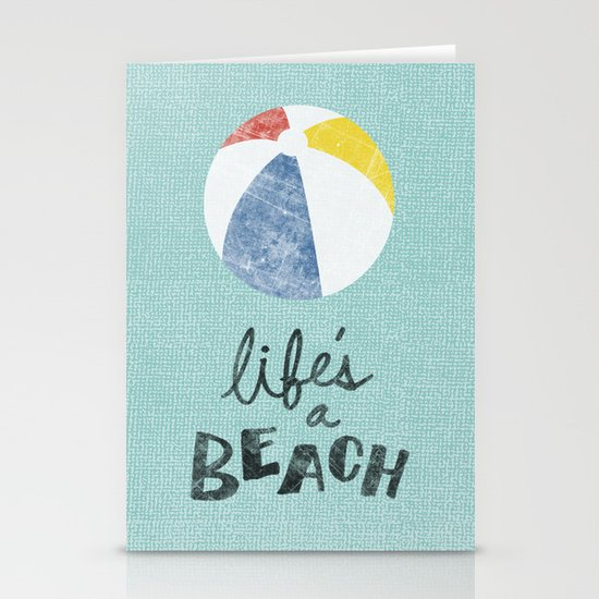 Life's a Beach. Stationery Card