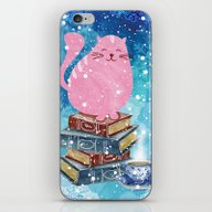 Bookish Cat In Winter iPhone & iPod Skin