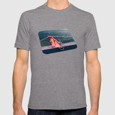 Red Bridge Mens Fitted Tee Tri-Grey SMALL