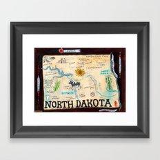 NORTH DAKOTA Framed Art Print