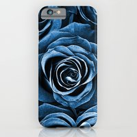 iPhone & iPod Case featuring Rose Bouquet in Blue by Igor Shrayer