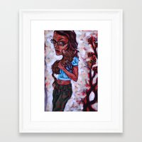 Fiona and the Ferret Fox Framed Art Print
