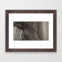 face out Framed Art Print
