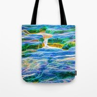 Abstract rock pool in the rough rocks in Queensland Tote Bag