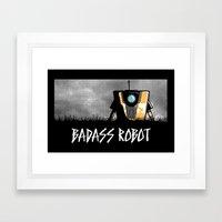 Badass Robot Framed Art Print