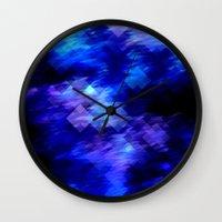 Anemone Wave Pixel Wall Clock