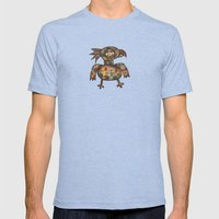 The Green Parrot Mens Fitted Tee Tri-Blue SMALL