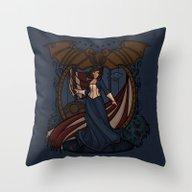 Elizabeth Nouveau Throw Pillow