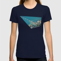 The Bridge Womens Fitted Tee Navy SMALL