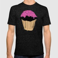cupcake Mens Fitted Tee Tri-Black SMALL